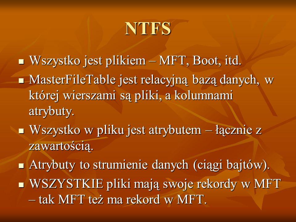 NTFS Wszystko jest plikiem – MFT, Boot, itd.