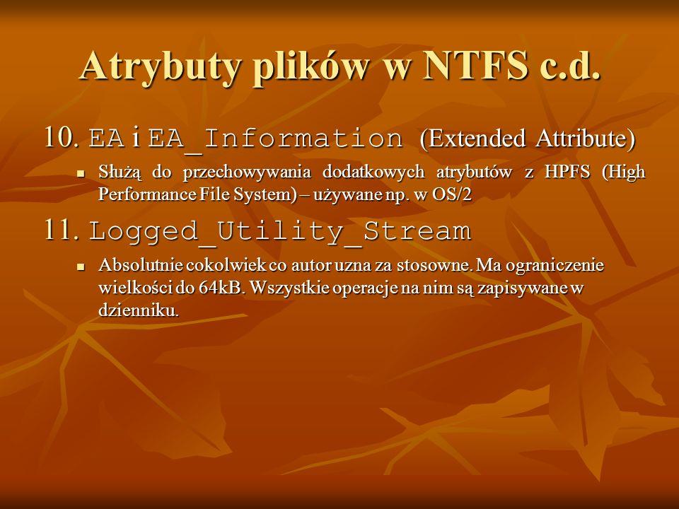 Atrybuty plików w NTFS c.d.