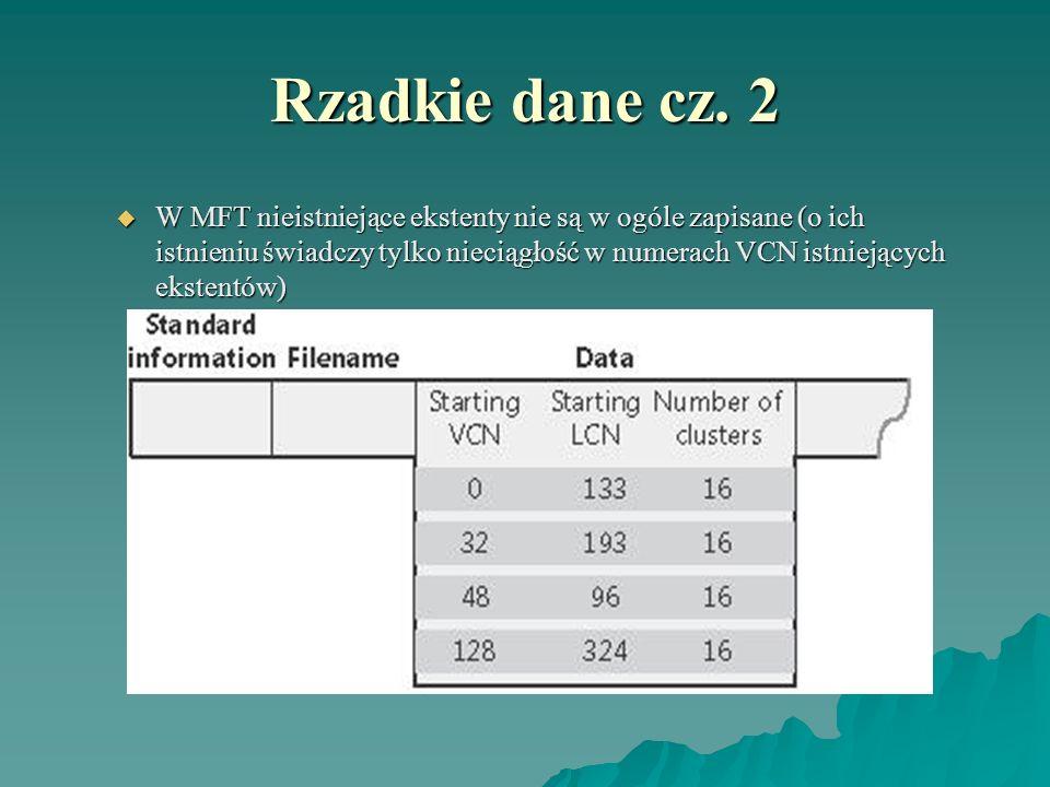 Rzadkie dane cz. 2