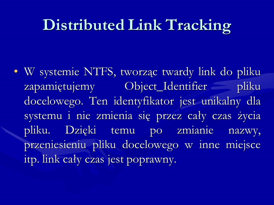 Distributed Link Tracking