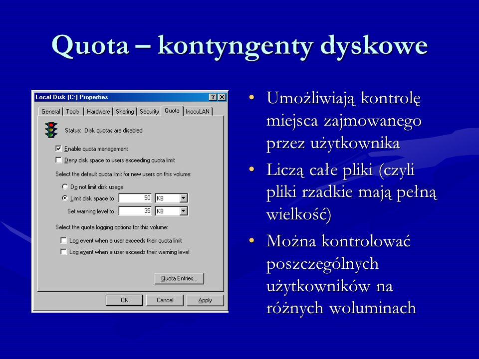 Quota – kontyngenty dyskowe