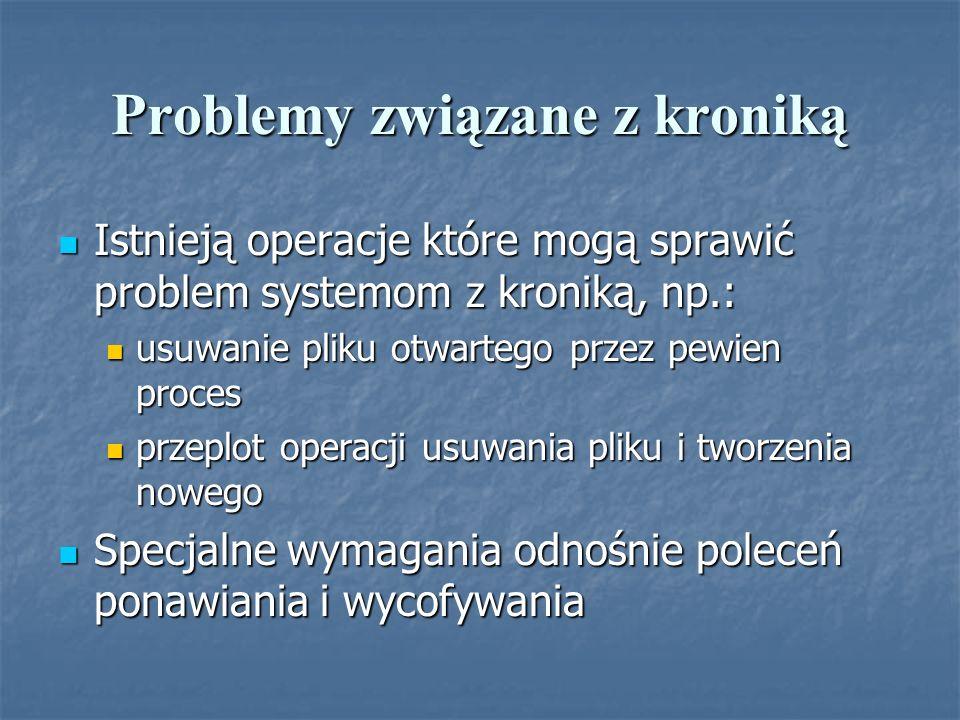 Problemy związane z kroniką