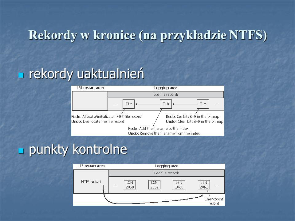 Rekordy w kronice (na przykładzie NTFS)