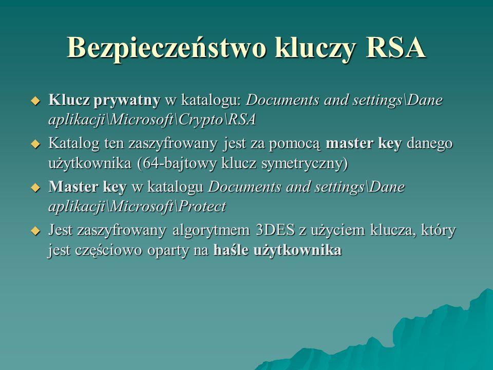 Bezpieczeństwo kluczy RSA