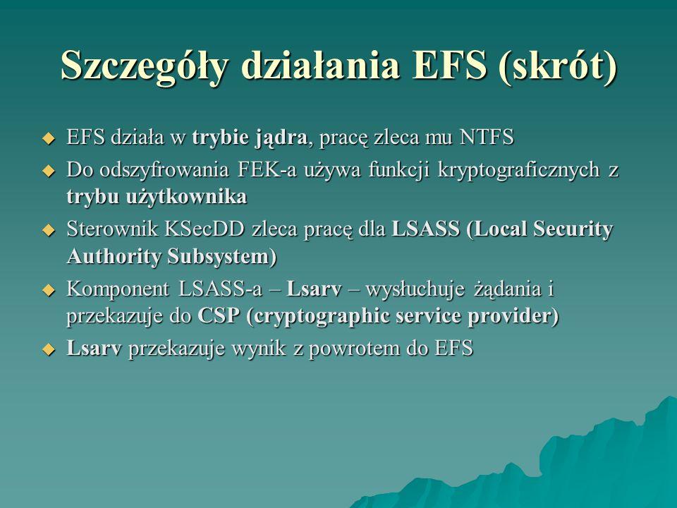 Szczegóły działania EFS (skrót)