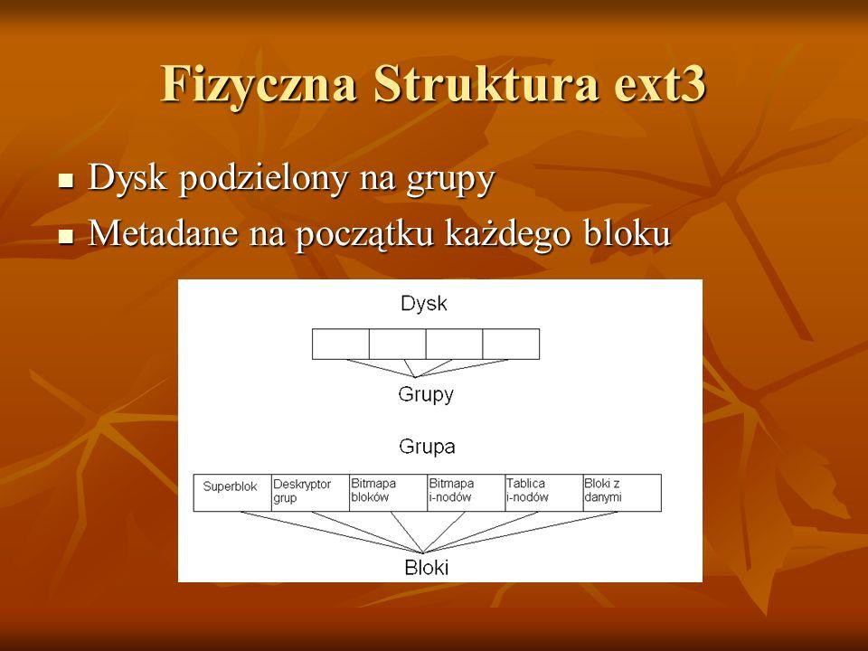 Fizyczna Struktura ext3