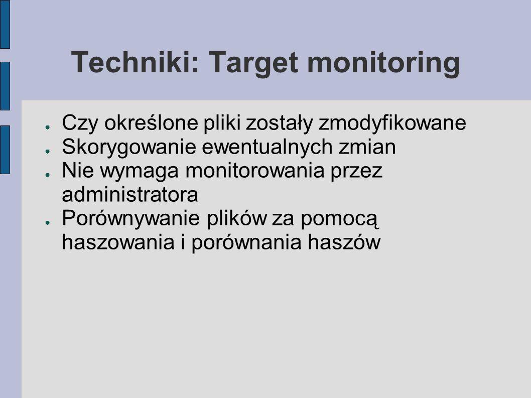 Techniki: Target monitoring