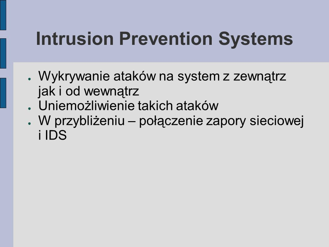 Intrusion Prevention Systems