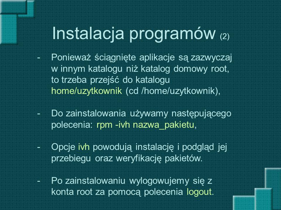 Instalacja programów (2)
