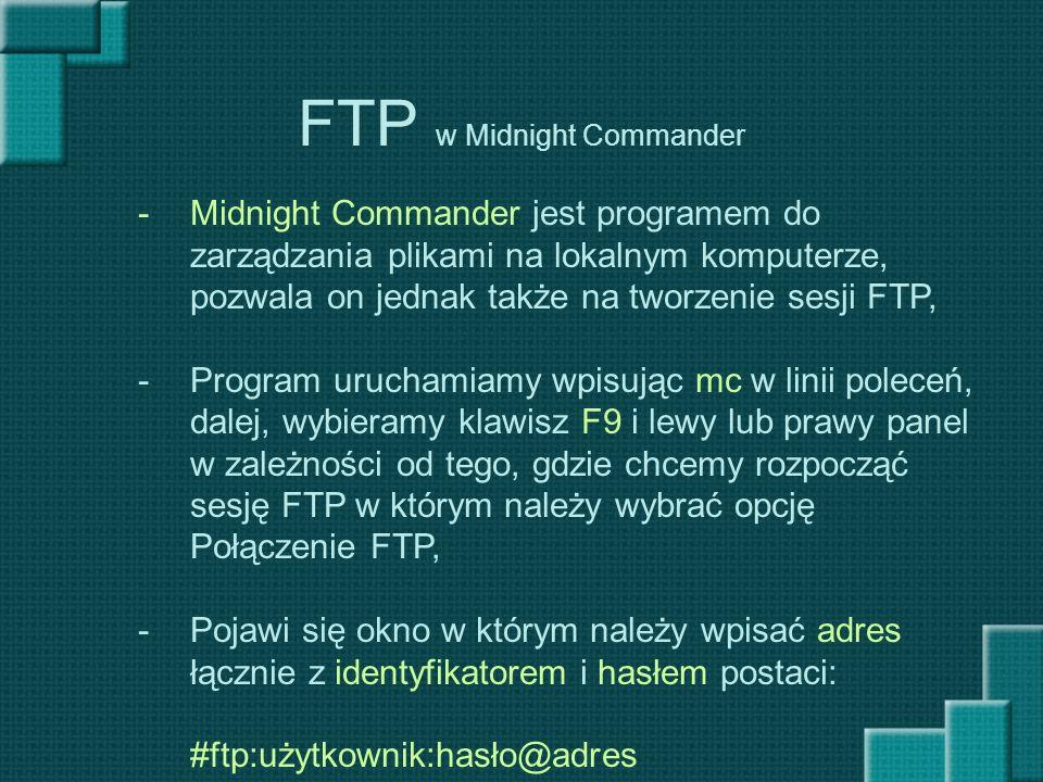 FTP w Midnight Commander