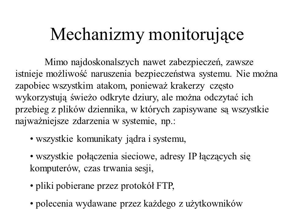 Mechanizmy monitorujące