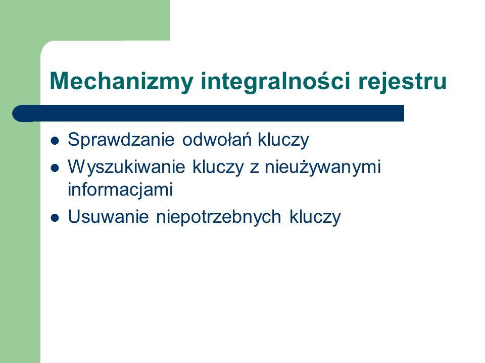 Mechanizmy integralności rejestru