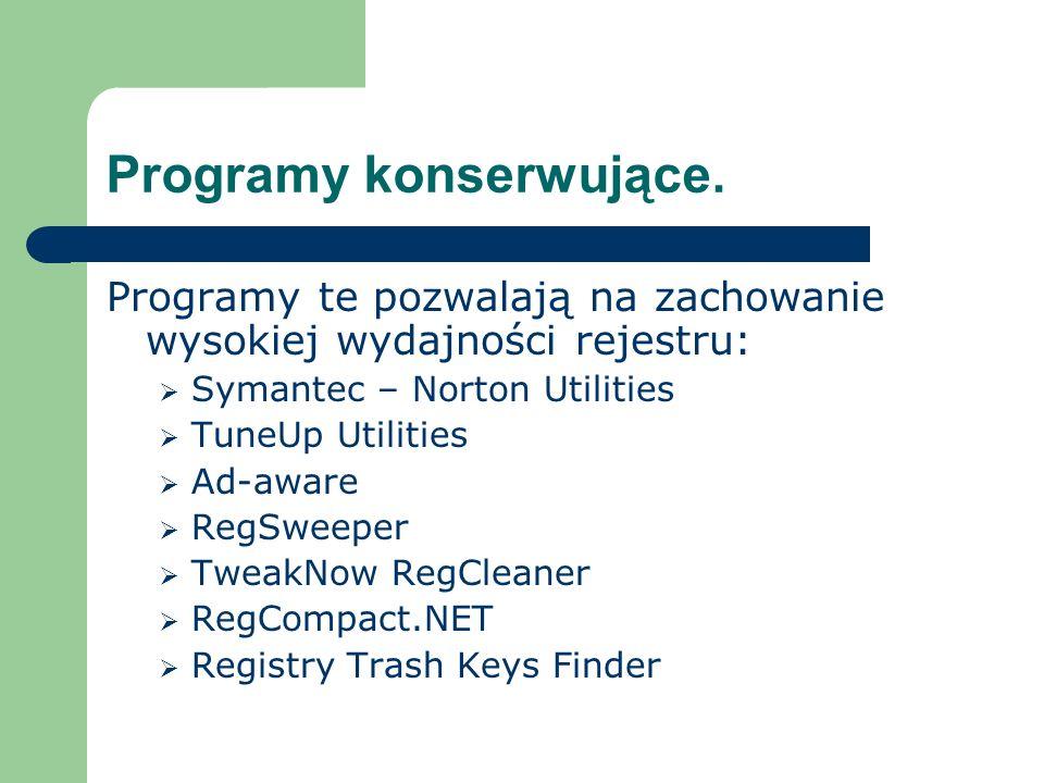Programy konserwujące.