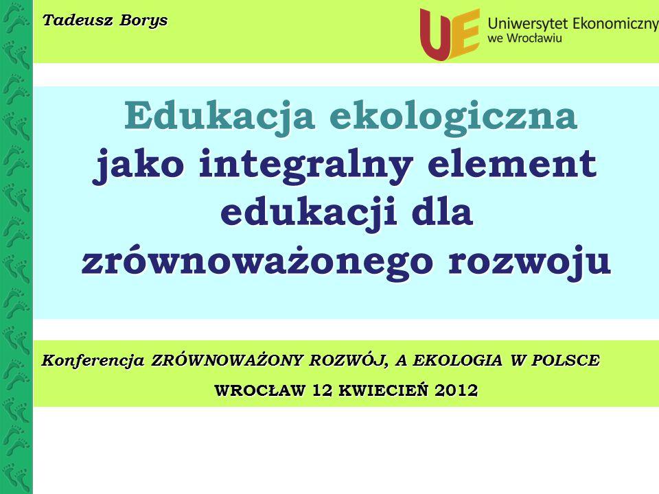 jako integralny element edukacji dla zrównoważonego rozwoju