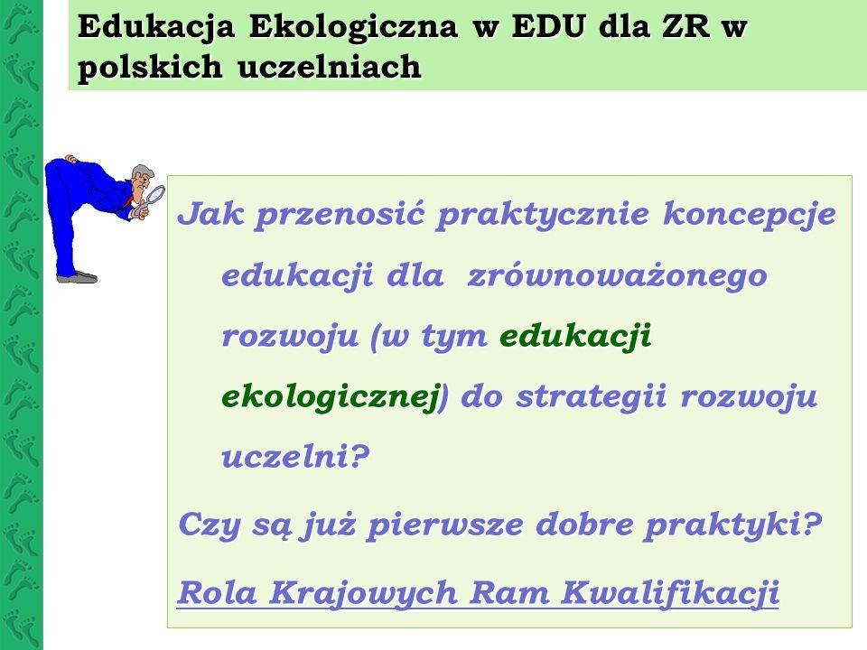 Edukacja Ekologiczna w EDU dla ZR w polskich uczelniach