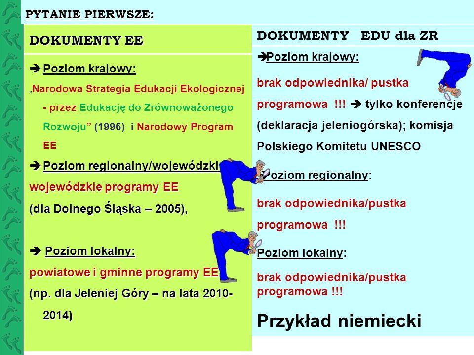 Przykład niemiecki DOKUMENTY EE DOKUMENTY EDU dla ZR PYTANIE PIERWSZE:
