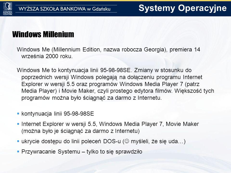Systemy Operacyjne Windows Millenium