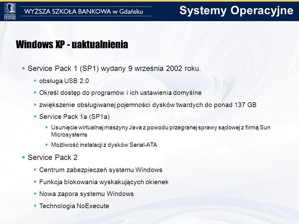 Systemy Operacyjne Windows XP - uaktualnienia