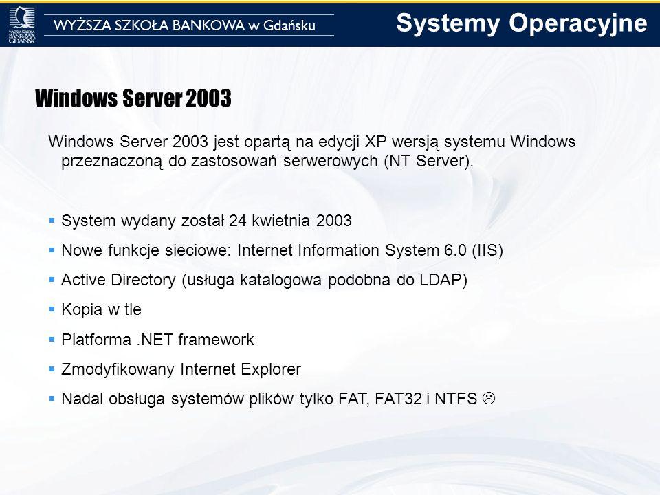 Systemy Operacyjne Windows Server 2003