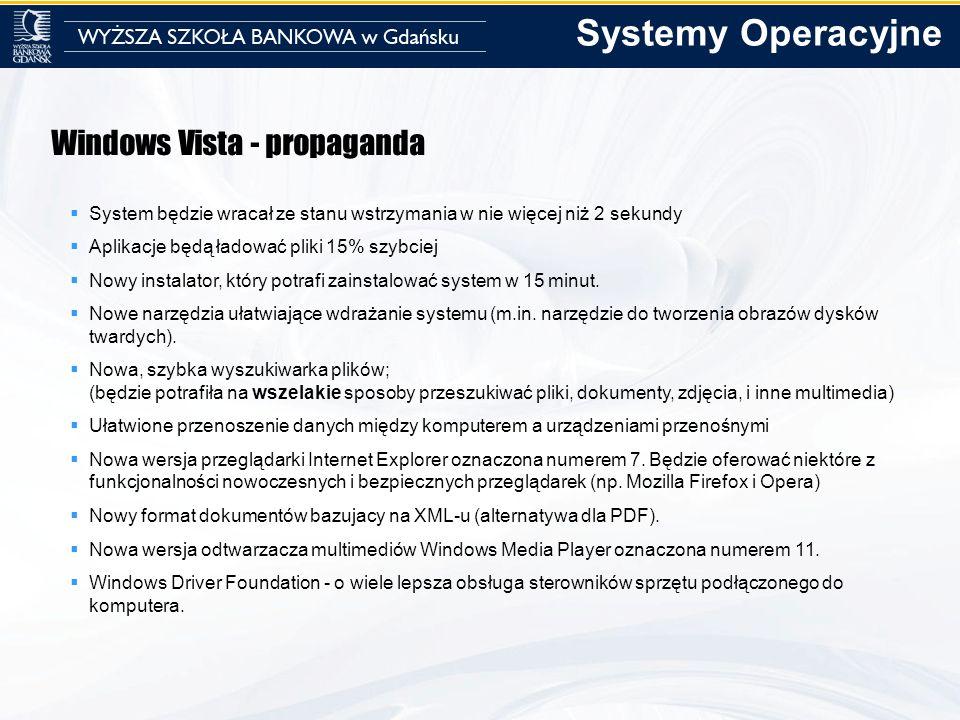 Systemy Operacyjne Windows Vista - propaganda