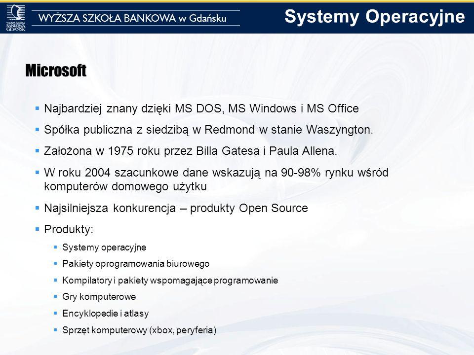 Systemy Operacyjne Microsoft