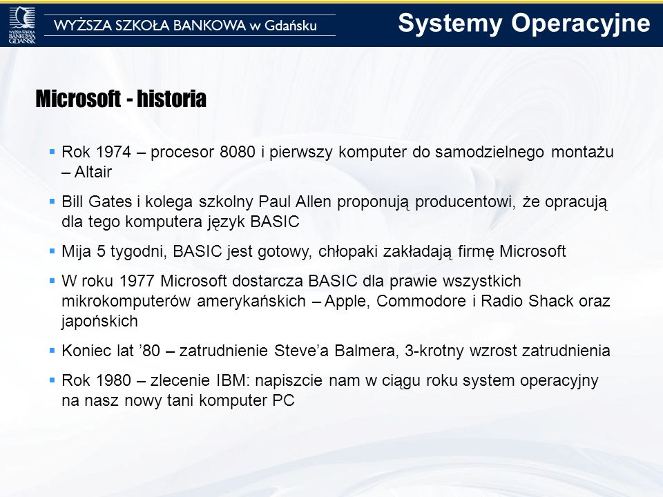 Systemy Operacyjne Microsoft - historia