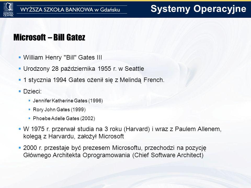Systemy Operacyjne Microsoft – Bill Gatez