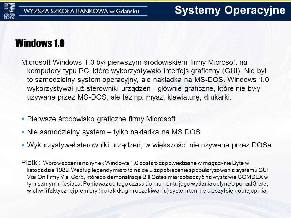 Systemy Operacyjne Windows 1.0