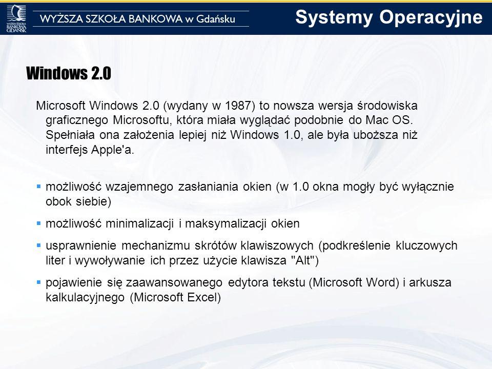 Systemy Operacyjne Windows 2.0