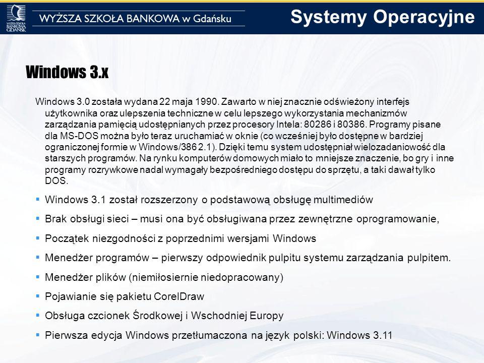 Systemy Operacyjne Windows 3.x