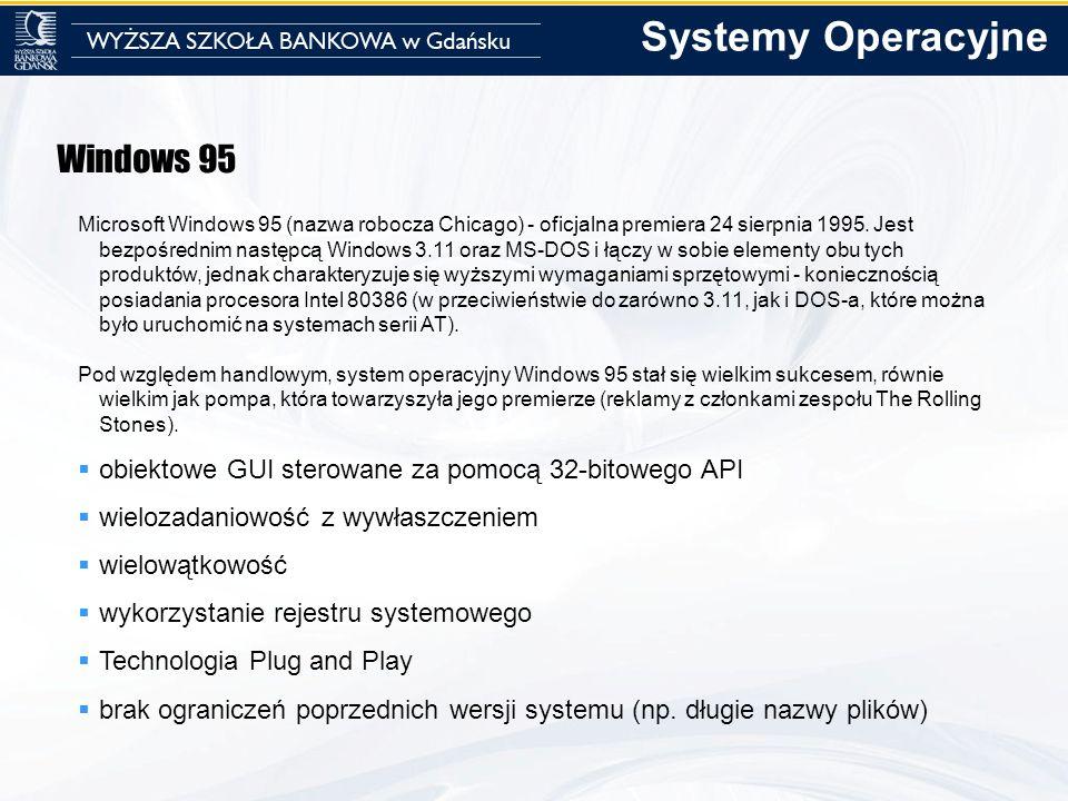 Systemy Operacyjne Windows 95