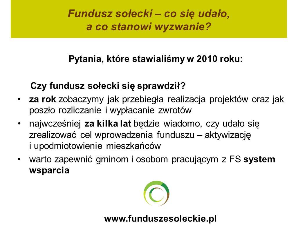 Fundusz sołecki – co się udało, a co stanowi wyzwanie