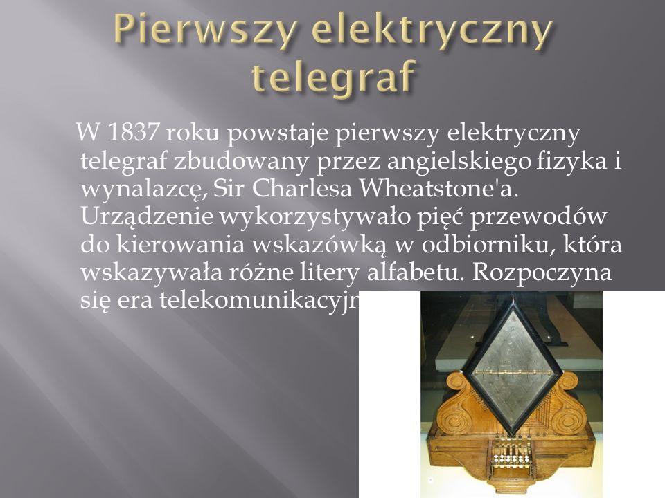 Pierwszy elektryczny telegraf