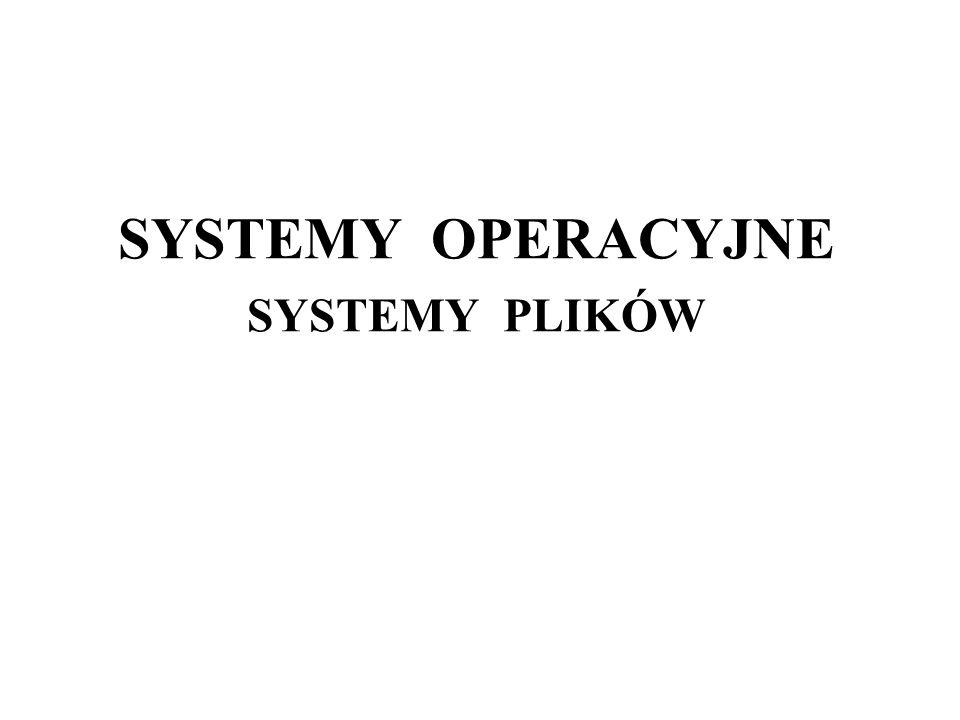 SYSTEMY OPERACYJNE SYSTEMY PLIKÓW