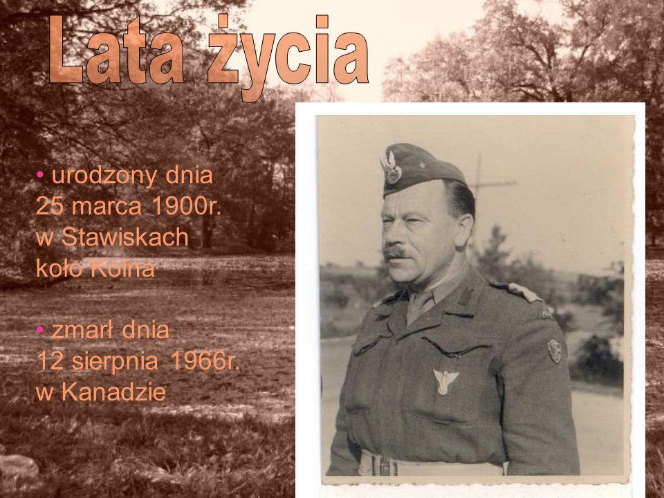 Lata życia urodzony dnia 25 marca 1900r. w Stawiskach koło Kolna