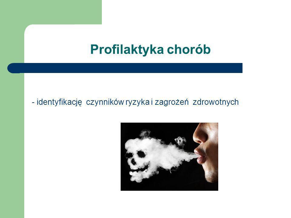 Profilaktyka chorób - identyfikację czynników ryzyka i zagrożeń zdrowotnych