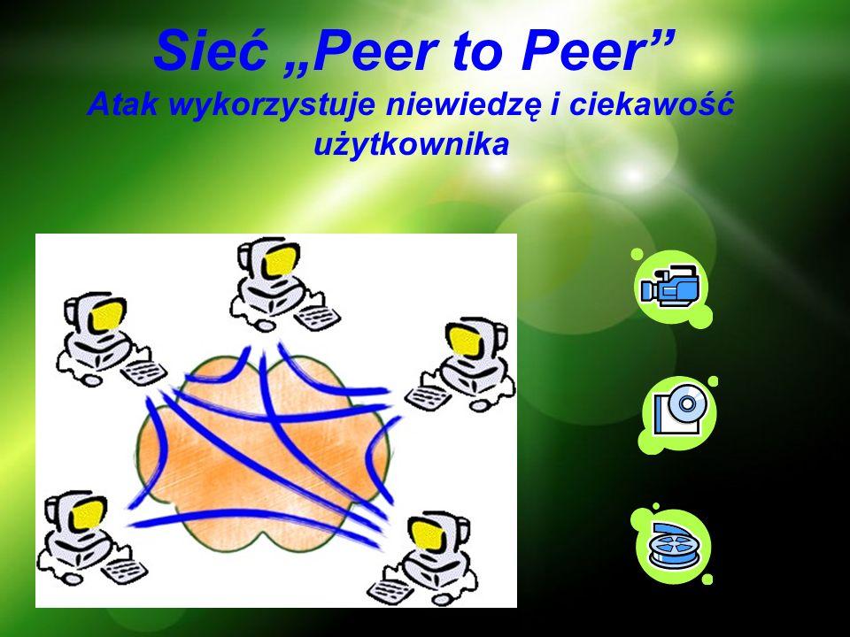 """Sieć """"Peer to Peer Atak wykorzystuje niewiedzę i ciekawość użytkownika"""
