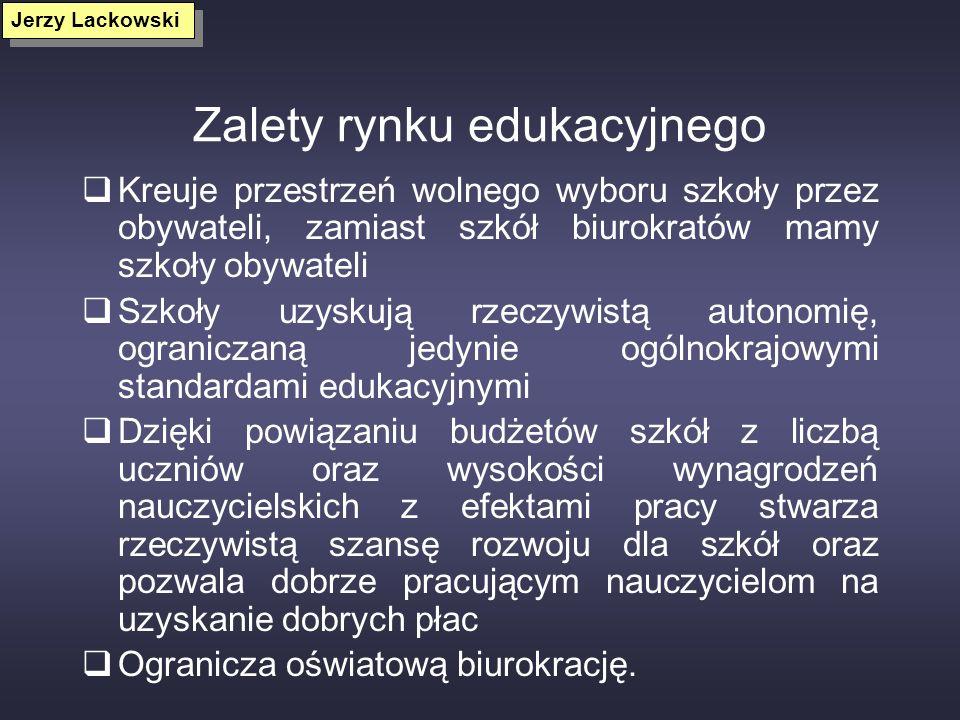Zalety rynku edukacyjnego