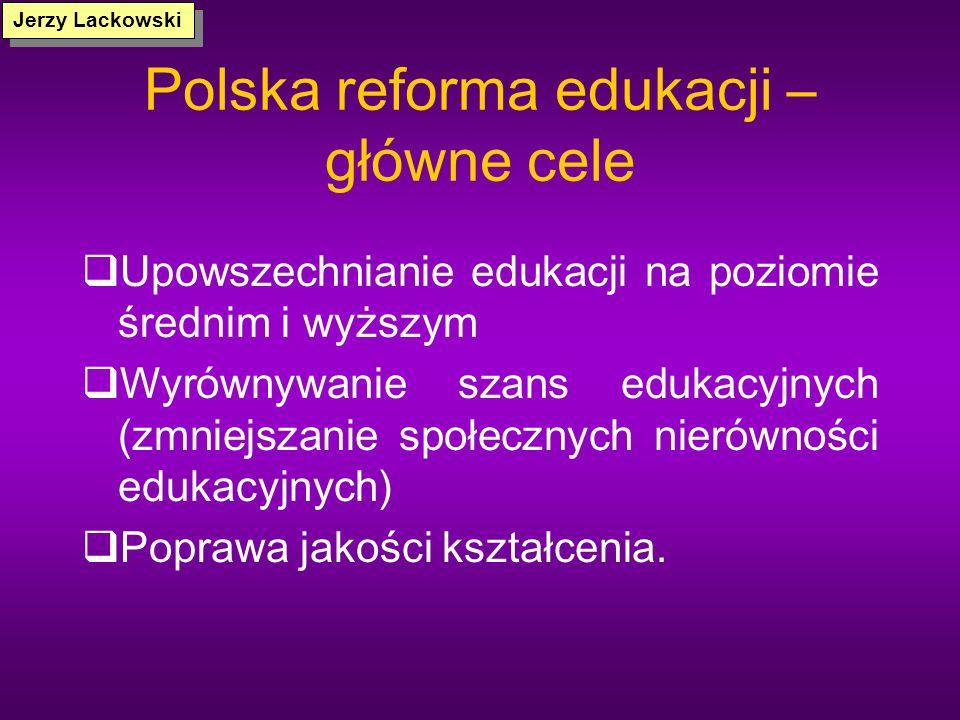 Polska reforma edukacji – główne cele