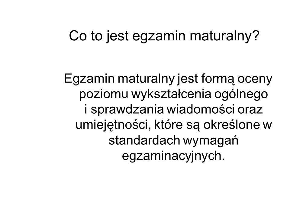 Co to jest egzamin maturalny