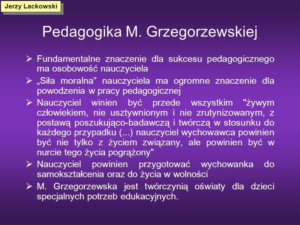 Pedagogika M. Grzegorzewskiej