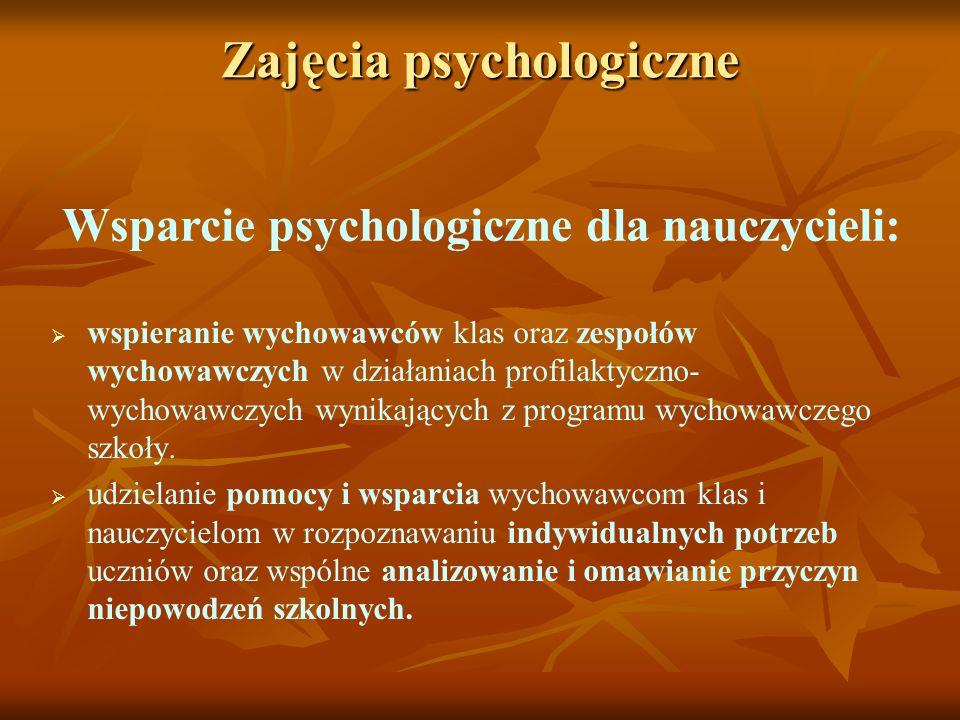 Zajęcia psychologiczne