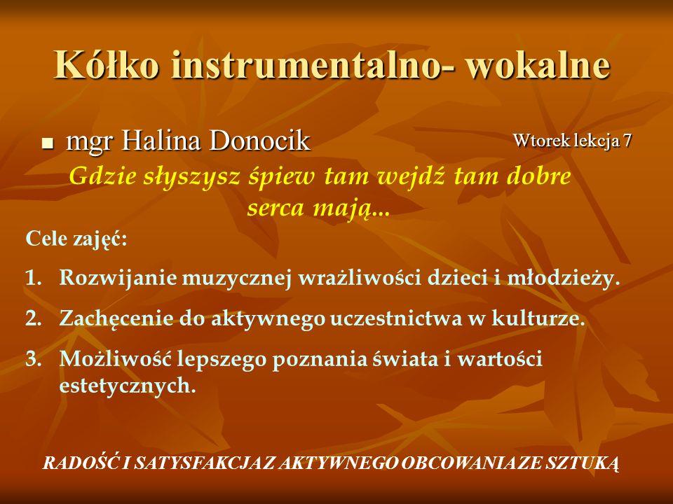 Kółko instrumentalno- wokalne
