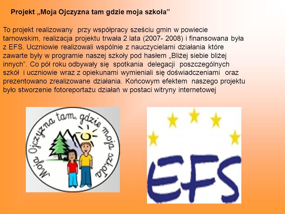 """Projekt """"Moja Ojczyzna tam gdzie moja szkoła"""