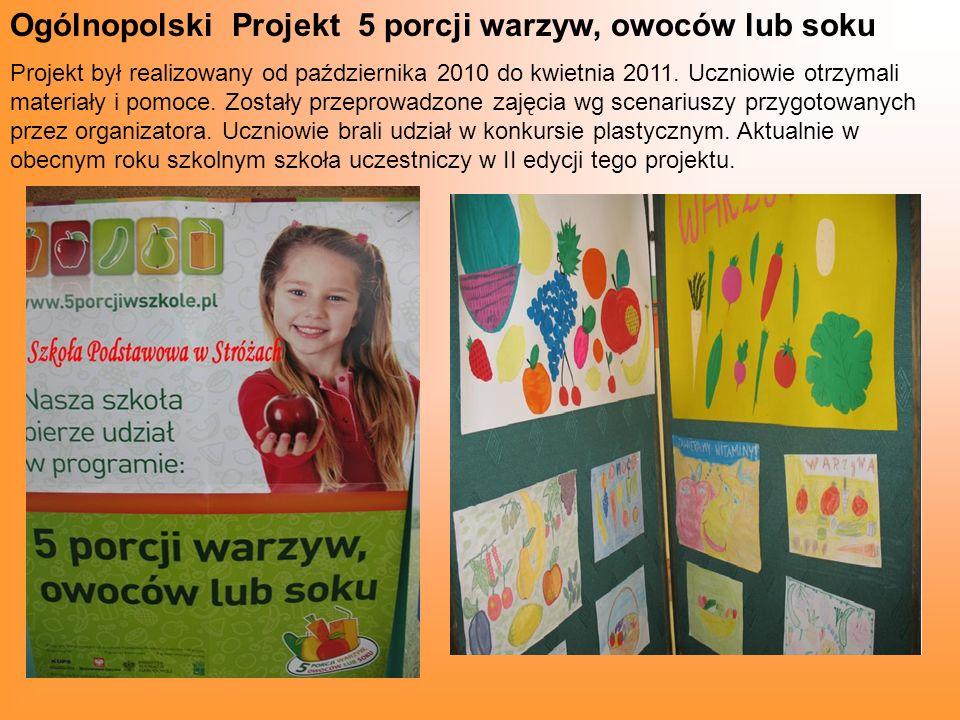 Ogólnopolski Projekt 5 porcji warzyw, owoców lub soku