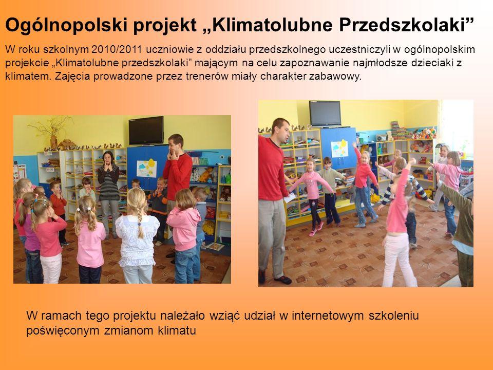 """Ogólnopolski projekt """"Klimatolubne Przedszkolaki"""