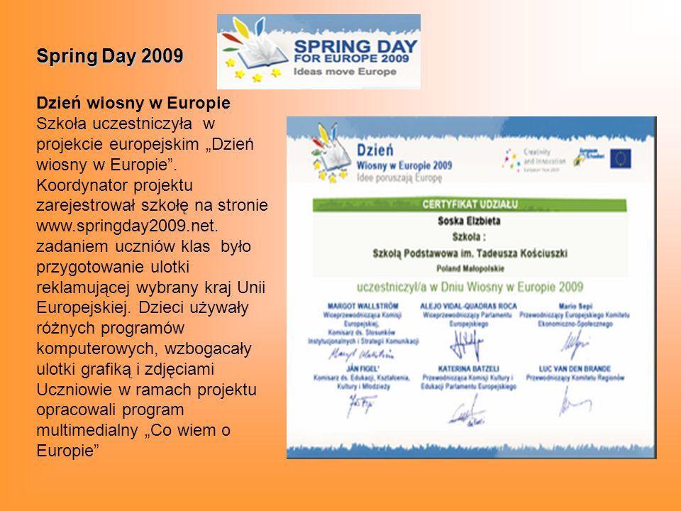 Spring Day 2009 Dzień wiosny w Europie