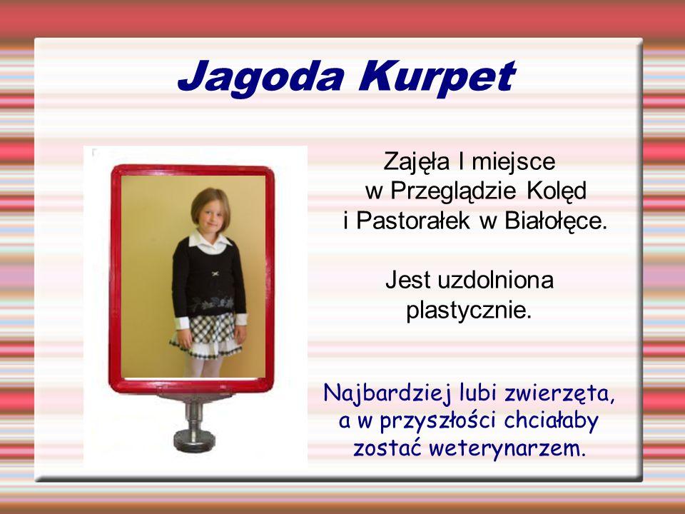 Jagoda Kurpet Zajęła I miejsce w Przeglądzie Kolęd