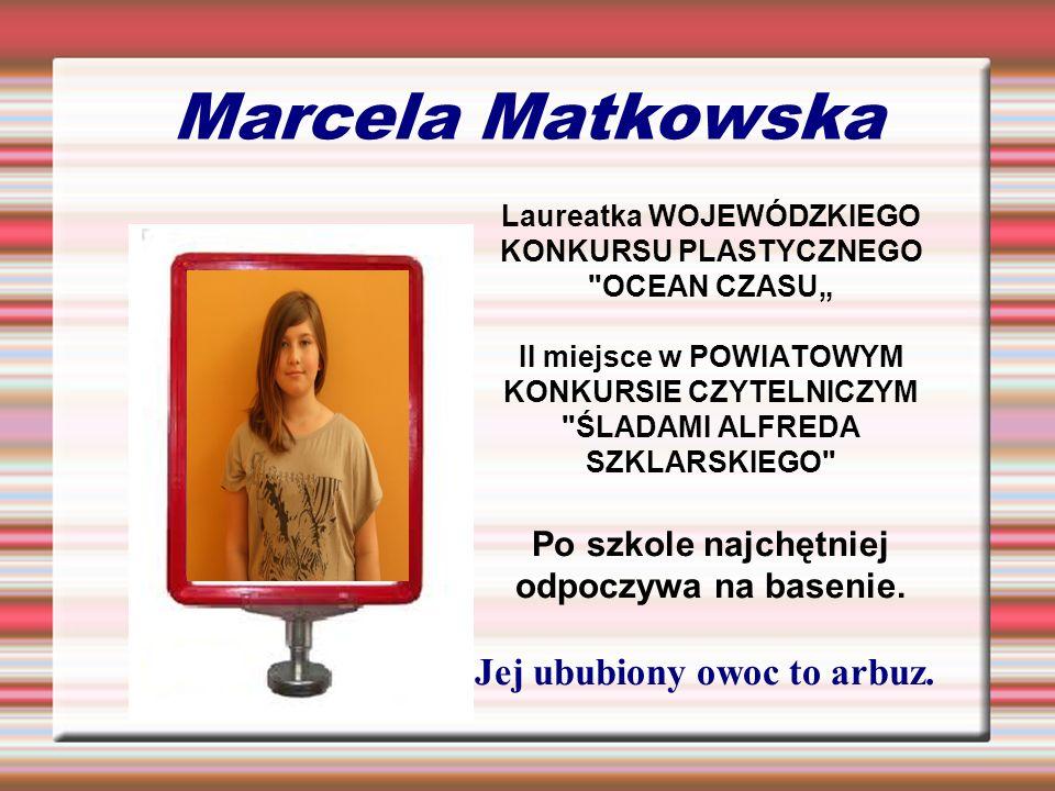Marcela Matkowska Po szkole najchętniej odpoczywa na basenie.