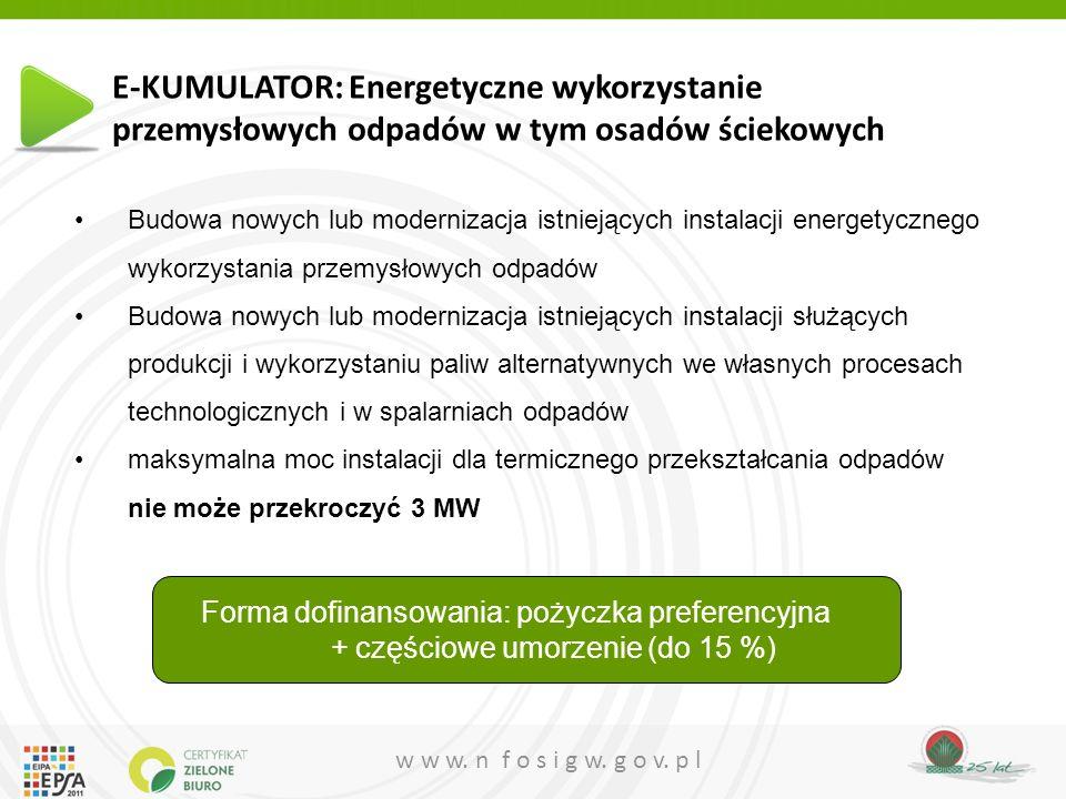 E-KUMULATOR: Energetyczne wykorzystanie przemysłowych odpadów w tym osadów ściekowych